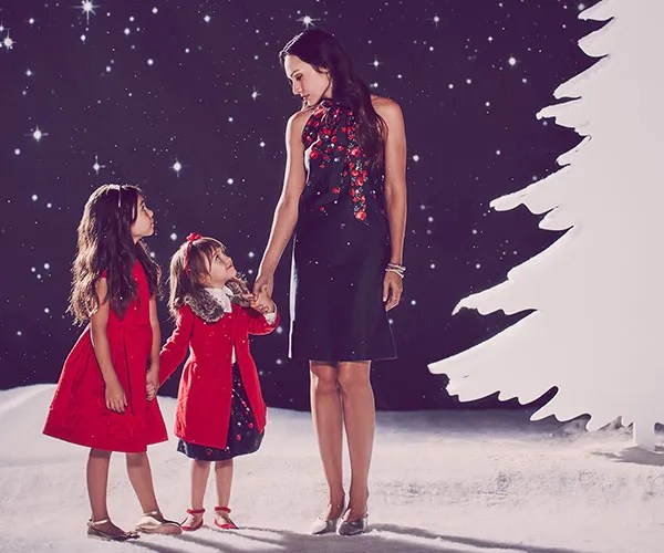 The Janie and jack J Holiday collection features new, coordinating looks for girls, boys and women,