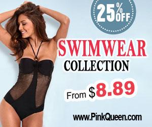 25% OFF on Swimwear at PinkQueen.com!