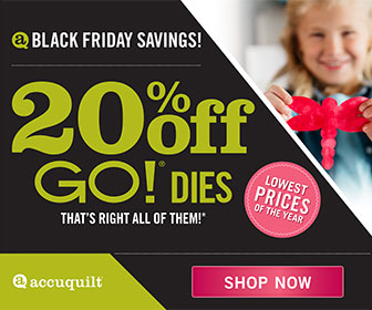 Accuquilt 20% off GO! Dies