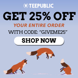 TeePublic Sale!! 20% Off Everything!