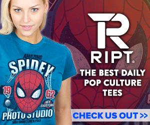 advert, spiderman tee shirt