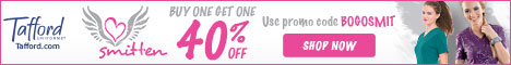 Smitten Scrubs -BOGO 40% Off @ Tafford.com