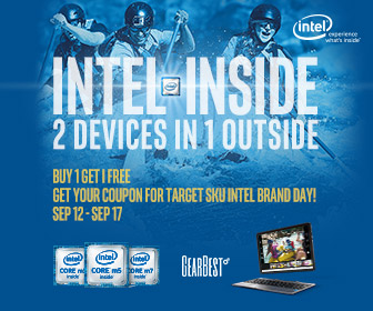 Buy 1 and Get 1 for Free: GearBest Intel Tablets Special Sale(Sep.12- Sep.17)
