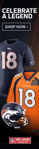 Salute an NFL Legend with Peyton Manning fan gear and collectibles from NFLShop.com