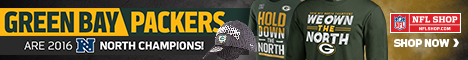 Get your Green Bay Packers 2016 NFC North Champs fan gear at NFLShop.com