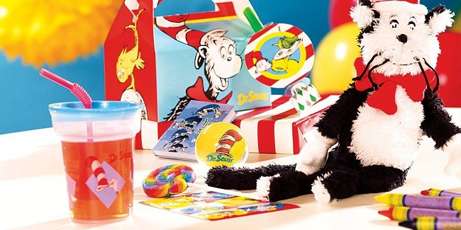 Dr Seuss birthday party supplies
