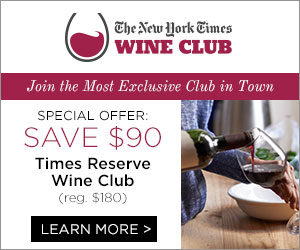 Save $90 on NYTimes Reserve Wine club