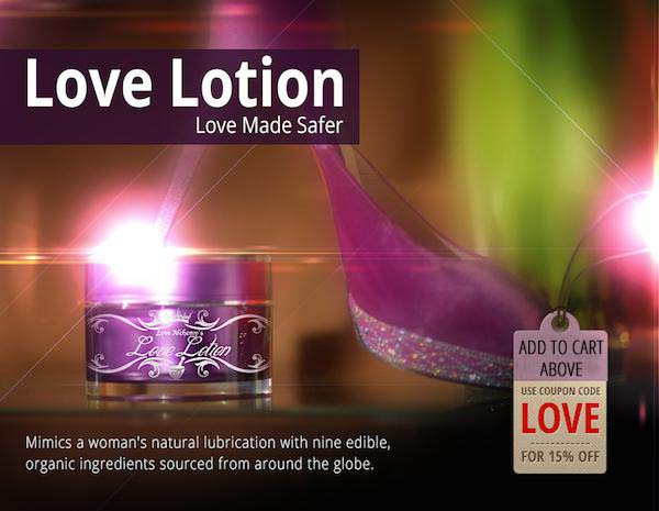 Love Lotion Lubricant box