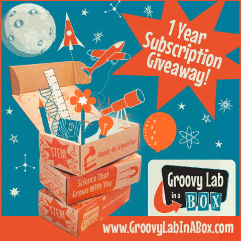 One-year subscription giveaway Groovy Lab in a Box