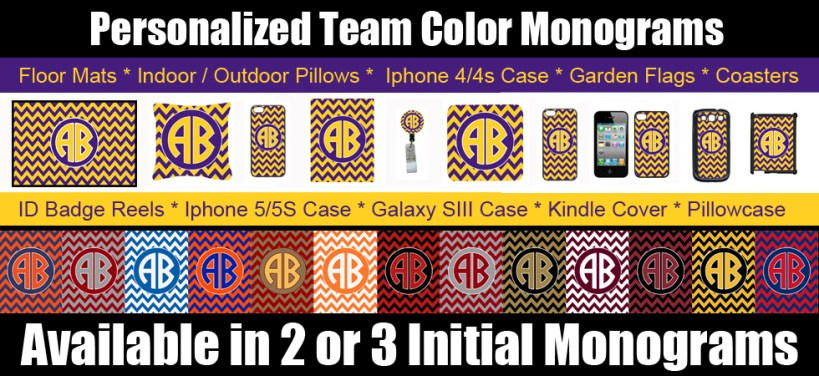 Personalized Team Color Items to show your SEC spirit!  GO TEAM!