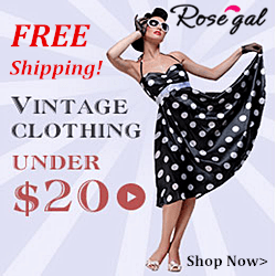 Free Shipping for Vintage Clothing Under $20!
