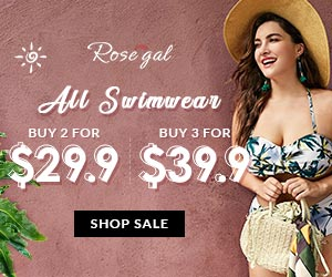 Swimwear Flash Sale: Buy 2 For $29.9, Buy 3 For $39.9 at Rosegal.com. Ends: 8/13/2018