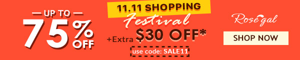 Special for 11.11 Sale: Up to extra $30 OFF
