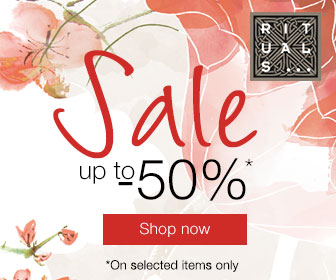 Get 50% off select items during the RITUALS... Winter Sale!