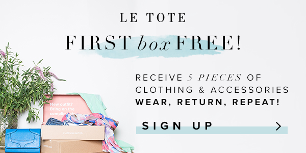 Le Tote First Box Free