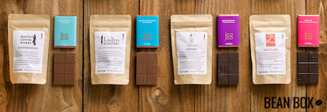 Try the Deluxe Coffee and Chocolate Tasting Box at BeanBox.co, a top seller!