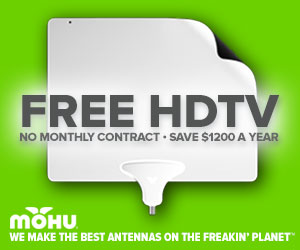 Get FREE HDTV with no monthly cable bill with the Mohu antenna