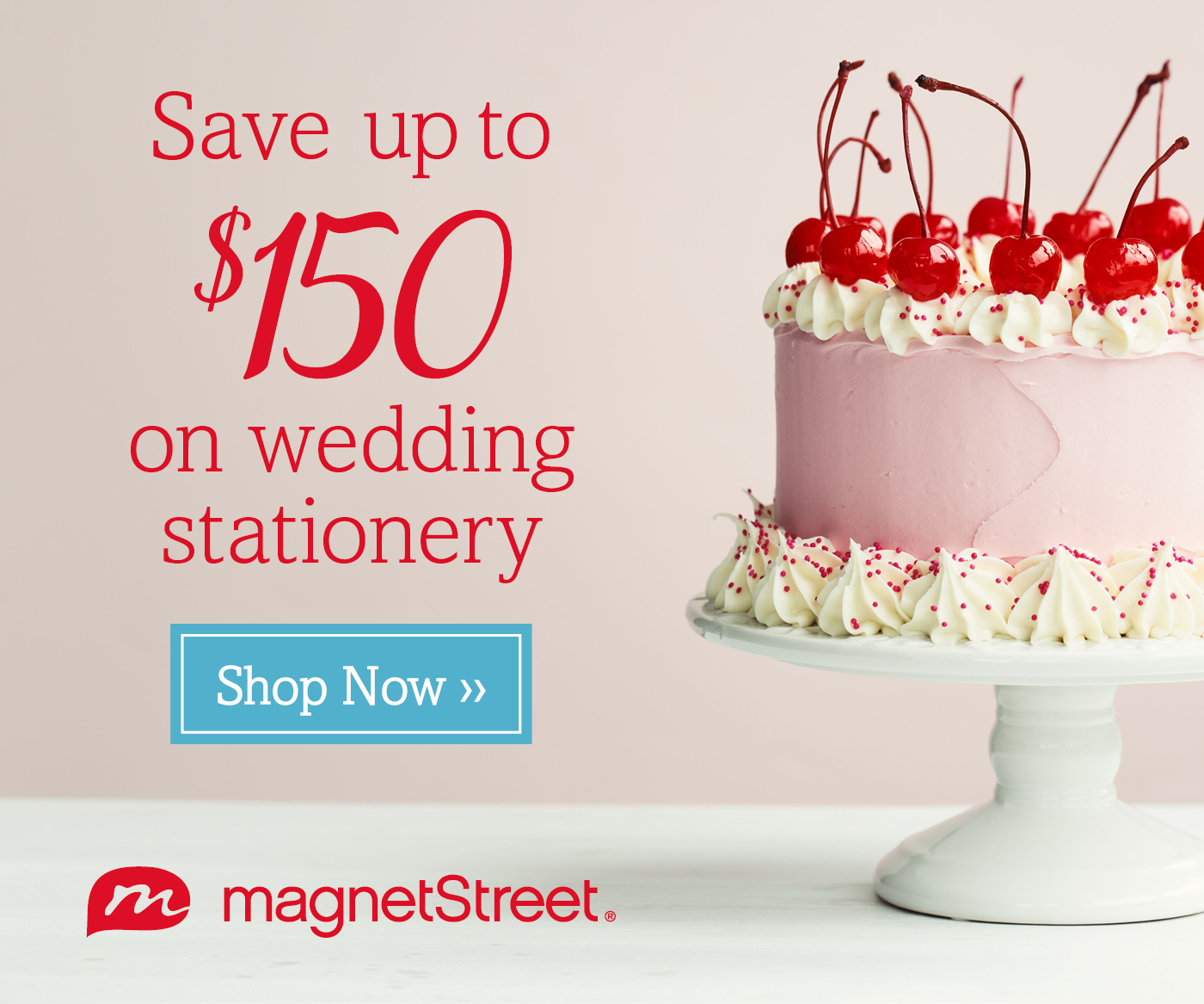 Save up to $150 on Wedding Stationary at MagnetStreet.com