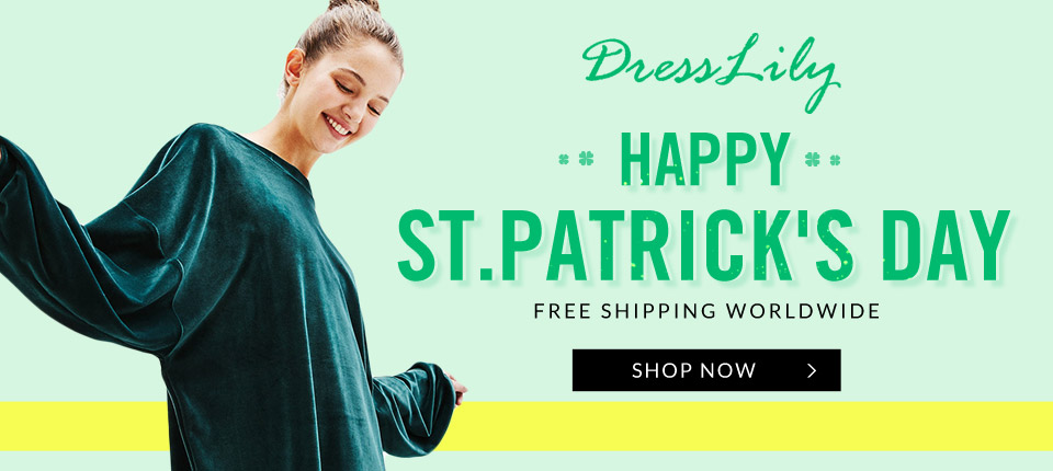 St.Patricks Day Sale: Up to 75% OFF + Free Shipping Worldwide!