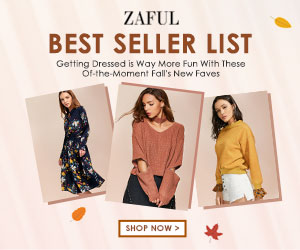 Up to 70% OFF for Top 30 Selling Fall Clothes for Women Promo 2017 at Zaful.com! Ends: 10/10/2017