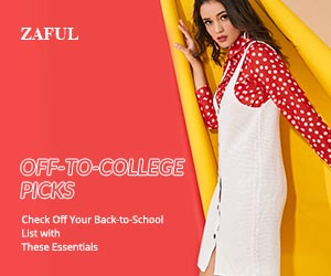 Down to $0.99 & enjoy up to 45% off for back to school sale at ZAFUL.com! Ends: 9/2/2018