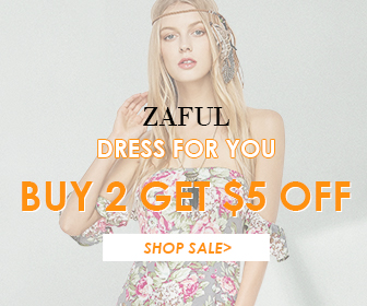 Dress for you! Buy any 2 Products to save $5 for this Special Event at Zaful.com! Ends: July.29, 2017
