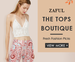 """Enjoy $3 OFF $30, $5 OFF $50, $12 OFF $100 with Code """"Top"""" for Tops at Boutique at Zaful.com! Ends: July.31, 2017"""