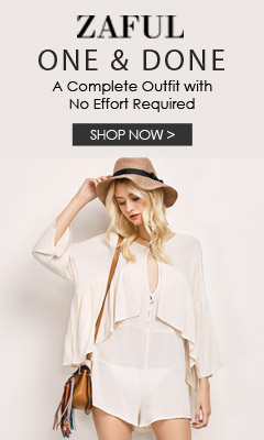 Hot Fahion Sale: Enjoy Up to 65% OFF for Hot Rompers and New Dresses Sale at Zaful.com!