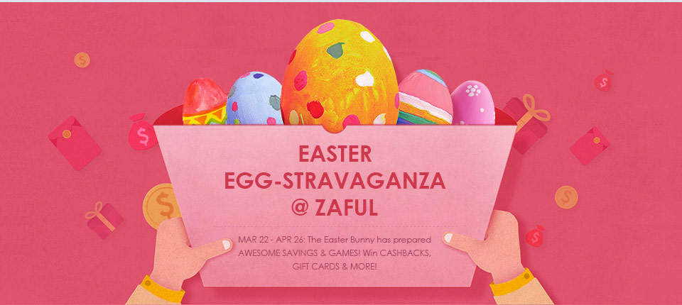 Easter Sale: Enjoy Great Coupon Pack With The Same Value Of Your Orders at Zaful.com! Ends: 4/11/2017