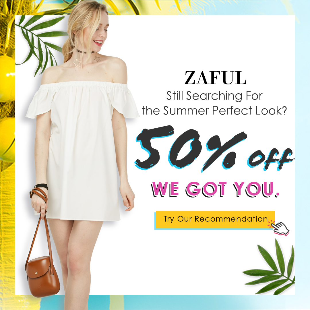 Enjoy Extra 50% OFF for Summer Perfact Look at Zaful.com!