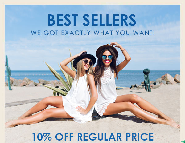 "Best Sellers: Enjoy Extra 10% OFF with Coupon ""SELL531"" and Up to 80% OFF at Zaful.com! Ends: June,12.2017"