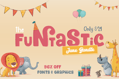 SALE!! 96% OFF 44 Fonts & 50 Graphic Packs
