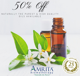 50% off select items at Amrita Aromatherapy