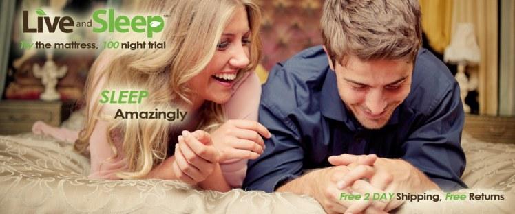 Laughing Couple on mattress
