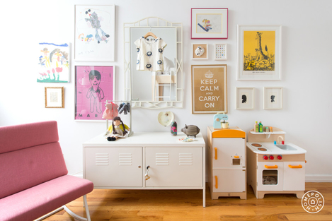 A chic locker cabinet works at any age. Designed by Homepolish!