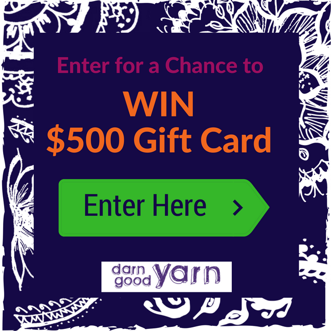 $500 Darn Good Yarn Gift Card Giveaway