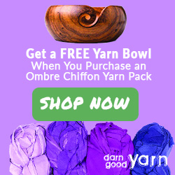 CHIFFON RIBBON OMBRE PACKS + FREE WOODEN YARN BOWL