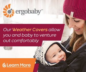 Ergobaby Weather Covers allow you and your baby to venture out comfortably, Learn more.