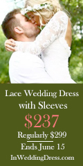 WEDDING DRESSES WITH SLEEVES $237