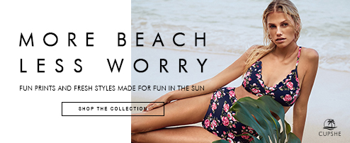 More Beach, Worry Less! Fun prints and fresh styles made for fun in the sun! Shop The Collection!