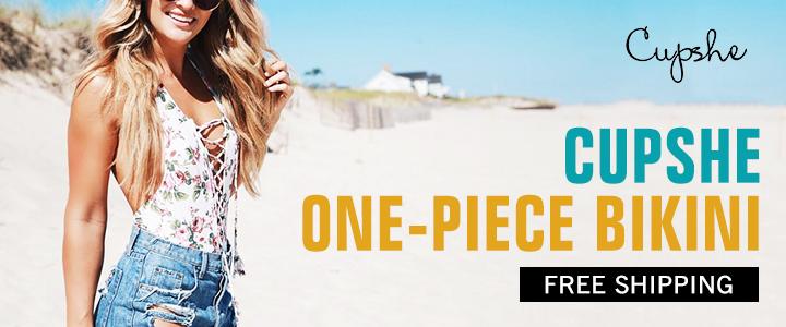 Cupshe One-Piece Bikini!Free Shipping!