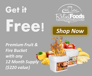Free Fruit & Fire Buckets with 12mo Supply