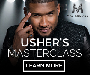 USHER'S MASTERCLASS. LEARN MORE.