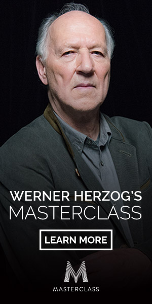 WERNER HERZOG'S MASTERCLASS. LEARN MORE.