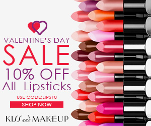 Valentine's Day Sale. Use Code: LIPS10 at Checkout and Get 10% OFF All Lipsticks