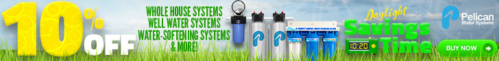 10-12% Off Whole House Water Systems* + 20% Off Drinking and Shower Filters