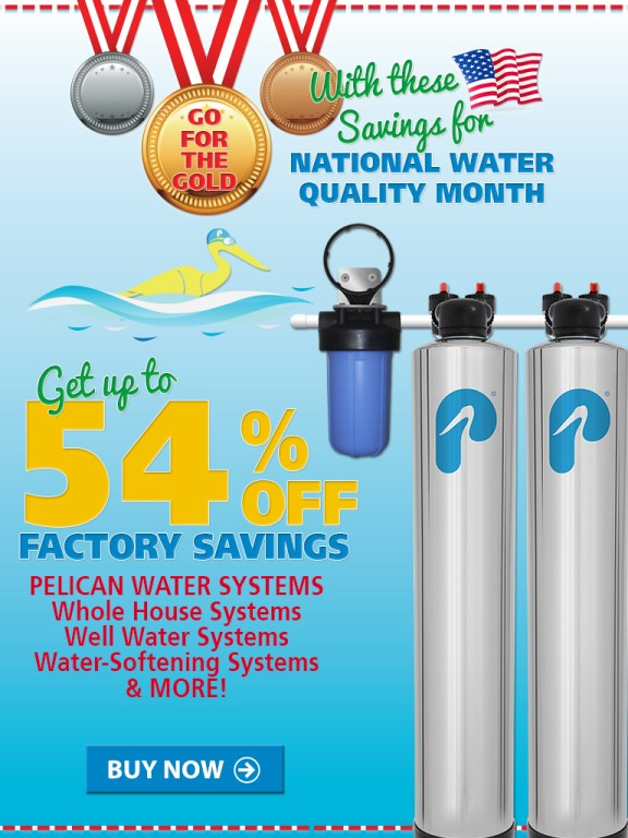 Get up to 54% Off Factory-Direct Savings on Whole House Water Systems! Plus 20% Off Drinking & Shower Filters at www.pelicanwater.com. No Code Needed.