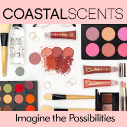 Coastal Scents logo and product on square