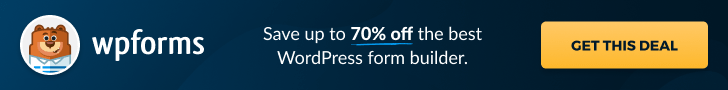 WPForms Black Friday Discount 2021: Save up to 70%🔥 1