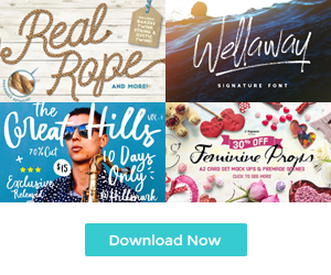 The Handcrafted Design Toolkit: Fonts and Graphics Only $29